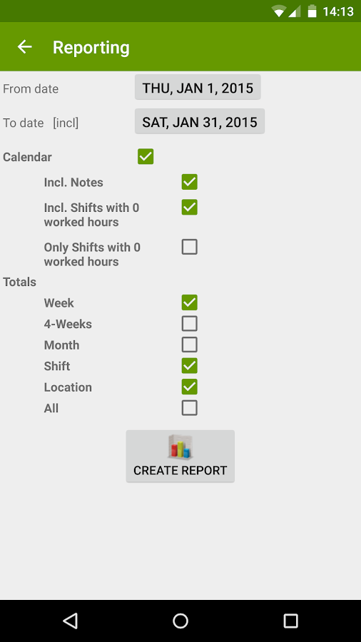 FlexR (Shift planner)- screenshot