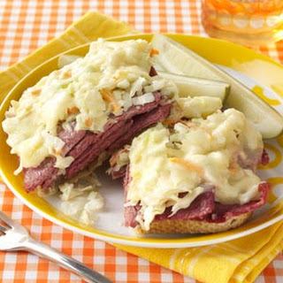 Corned Beef and Coleslaw Sandwiches.