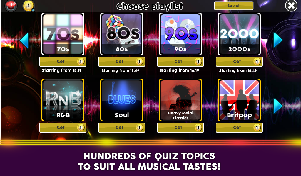 Wazasound Live Music Trivia- screenshot