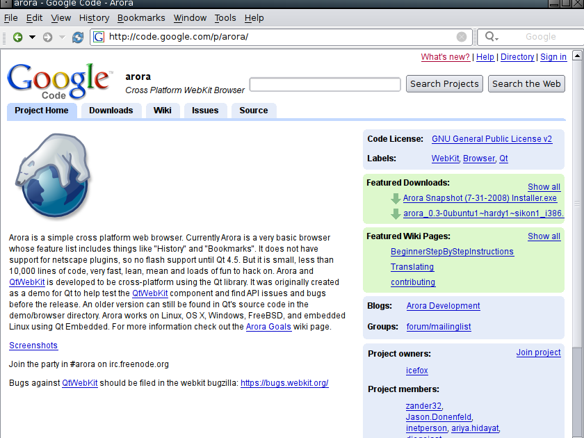 Artificial Idiot ♿: Alternative graphical browsers on Linux