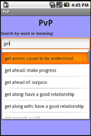 PvP - Phrasal Verbs Program- screenshot