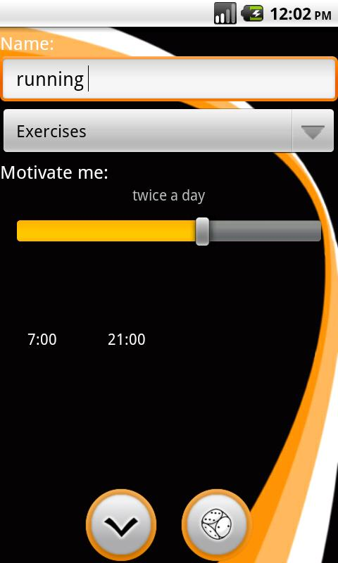 Motivate Me to exercise - screenshot