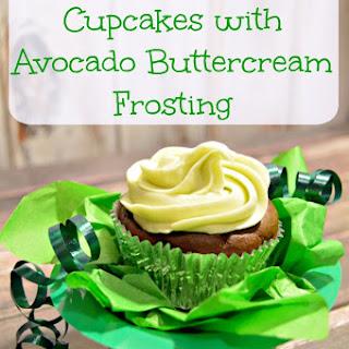 Chocolate Avocado Cupcakes with Avocado Buttercream Frosting.