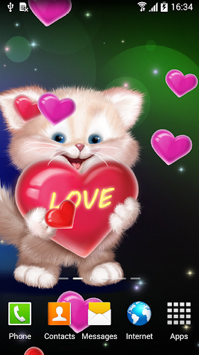 mod Cute Cat Live Wallpaper 1.0.7 screenshots 2