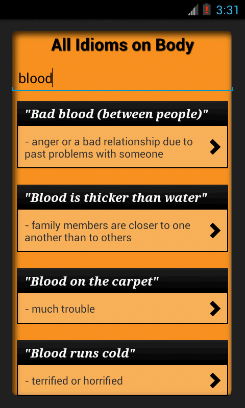 Idioms & Phrases with Meaning!- screenshot