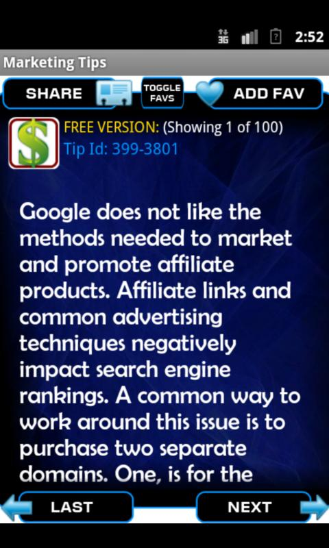 Internet Marketing Tips- screenshot