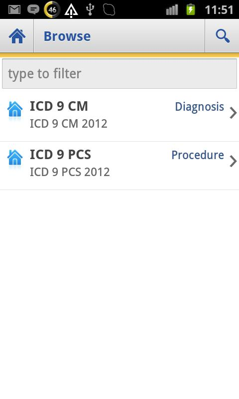ICD 9 Lite 2012 - screenshot