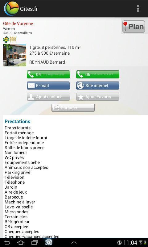 Gîtes et Chambres d'hôtes- screenshot
