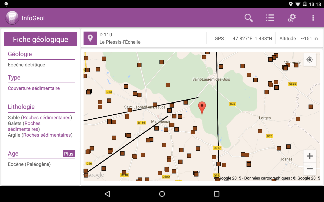 InfoGeol v2- screenshot