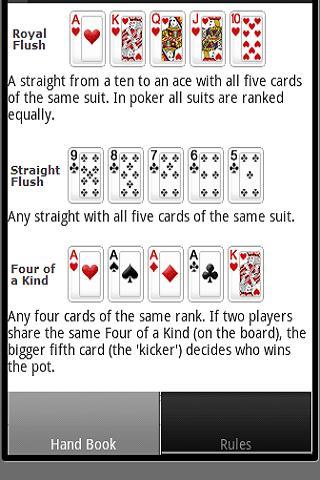 撲克手部書 - 規則