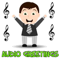 Birthday audio greeting icon