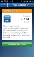 Screenshot of MinStrøm
