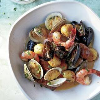Sheet-Pan Clambake with Mussels, Shrimp, and Chorizo Recipe
