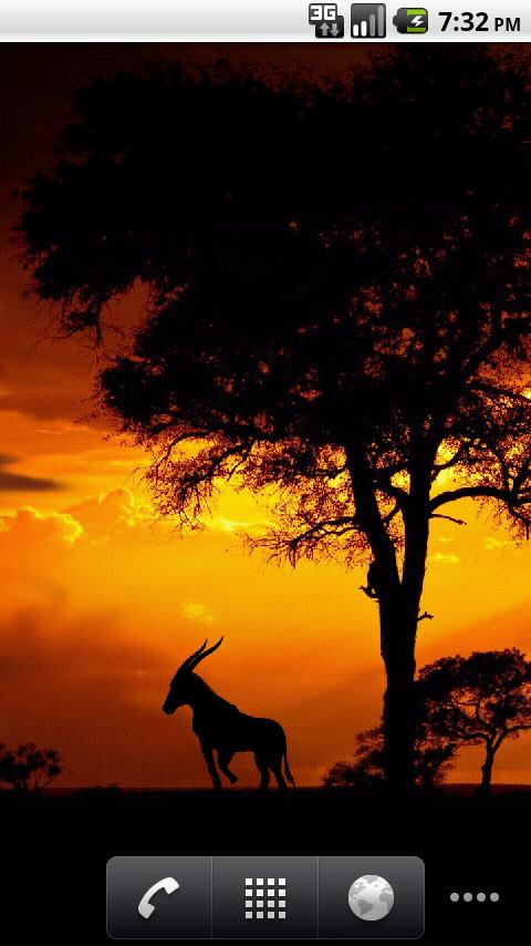 African Sunset LiveWallpaper! - screenshot