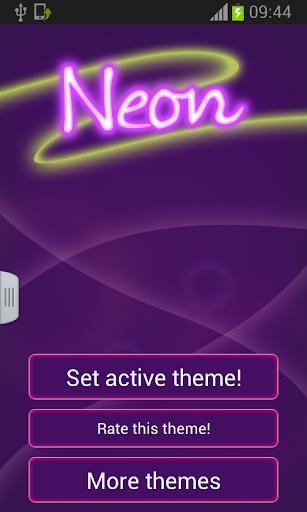 鍵盤皮膚紫色霓虹燈