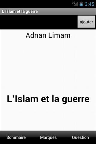L'Islam et la guerre- screenshot