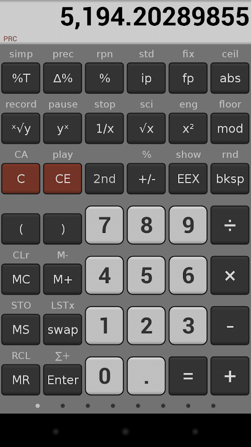 NeoCal Advanced Calculator - screenshot