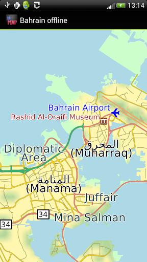 Bahrain offline map