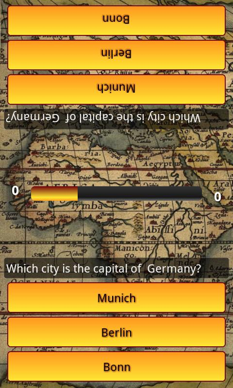 Capitali del mondo Quiz - screenshot
