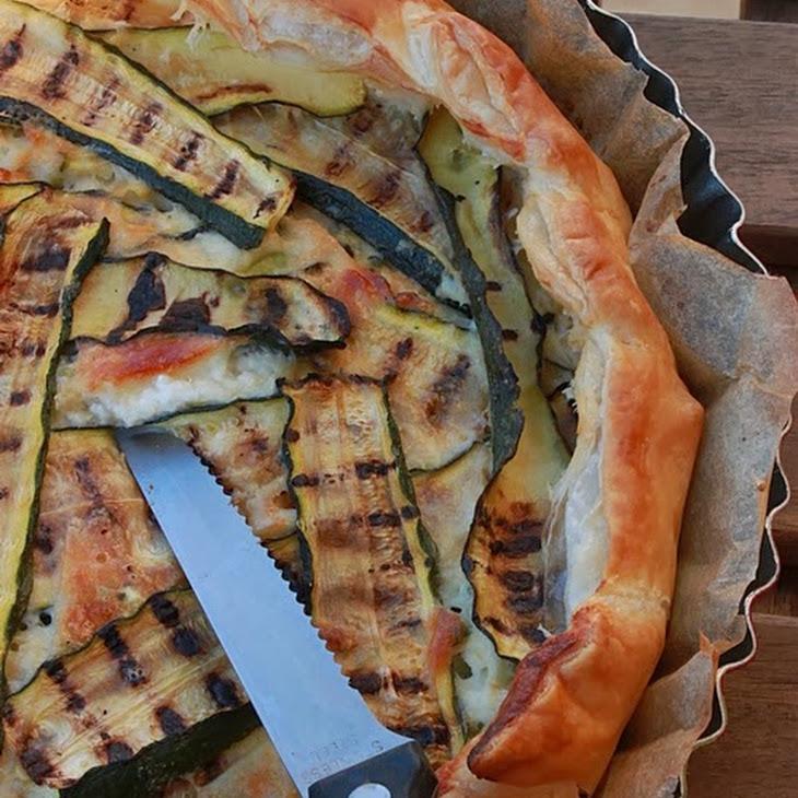 Stracchino Cheese and Zucchini Quiche