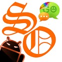 GOSMS SunsetOrange Theme -Free logo
