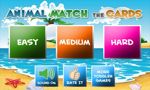Match Cards Game for Toddlers