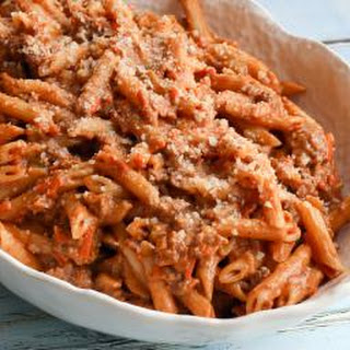 Penne Pasta with Creamy Meat Sauce