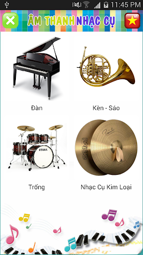 World of instrument sounds