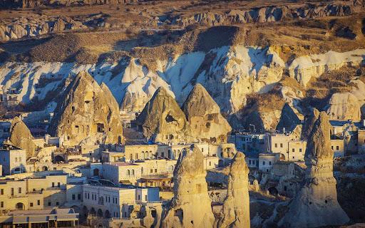 Fairy chimneys in Cappadocia, Turkey.