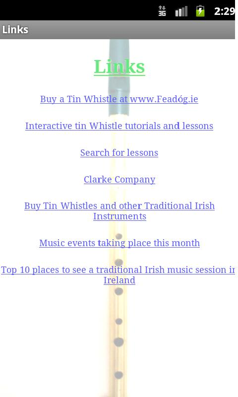 The Irish Tin Whistle App - screenshot