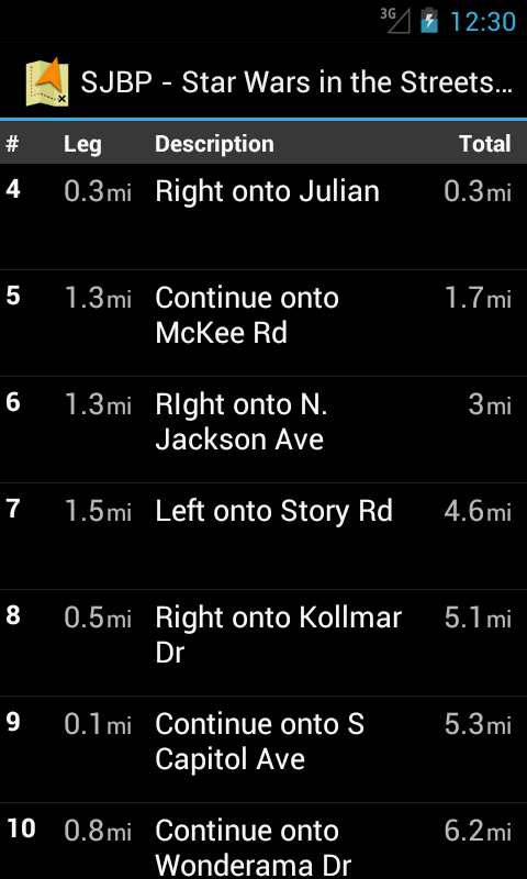 Track Navigator- screenshot
