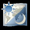 世界地図時計 logo