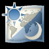 世界地図時計