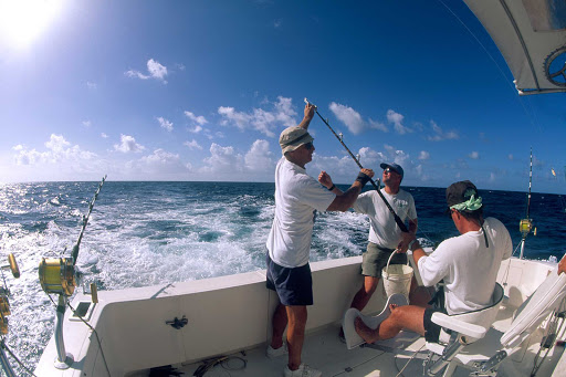 deep-sea-fishing-US-Virgin-Islands - Deep sea fishing off St. Thomas in the US Virgin Islands.