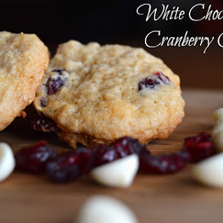 White Chocolate & Cranberry Cookies {Gluten Free}