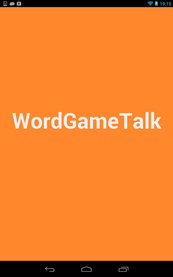WordGameTalk- screenshot