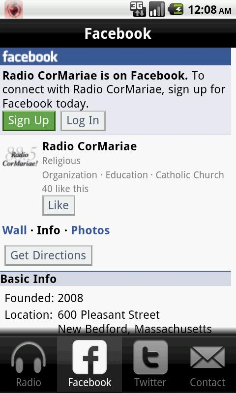 Radio CorMariae- screenshot
