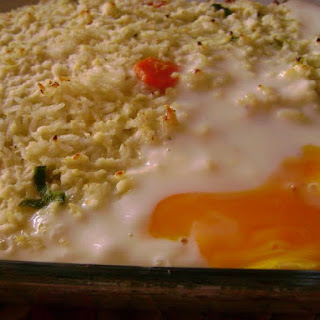 Baked Rice with Vegetables and Eggs.