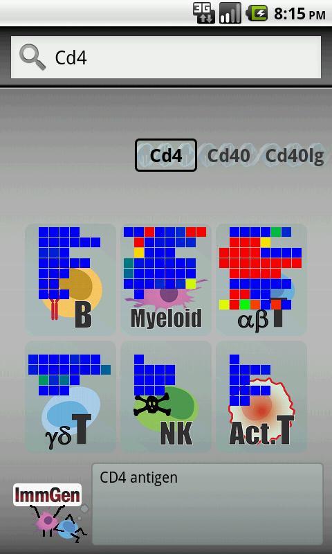 ImmGen - screenshot