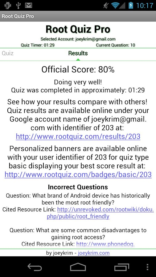 Root Quiz Pro- screenshot