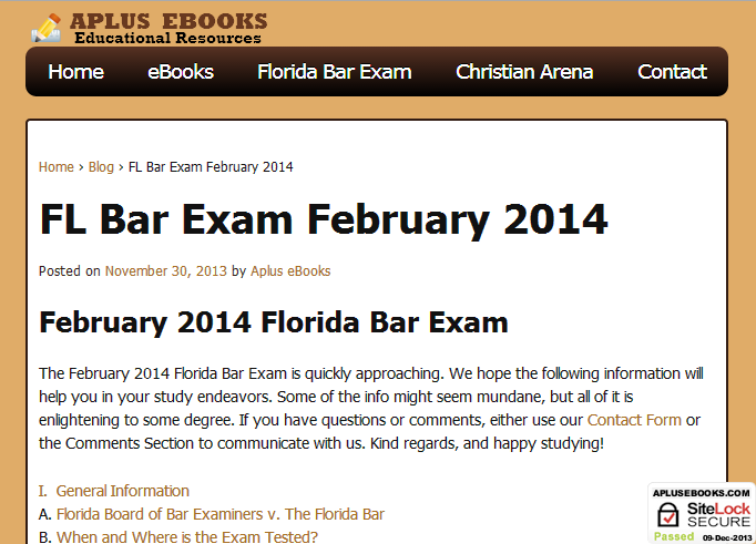 Florida Board of Bar Examiners