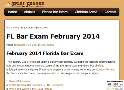 february 2014 florida bar essays The national conference of bar examiners (ncbe) has indicated that the national average mbe multiple-choice scaled score for the february 2018 bar exam declined once again.