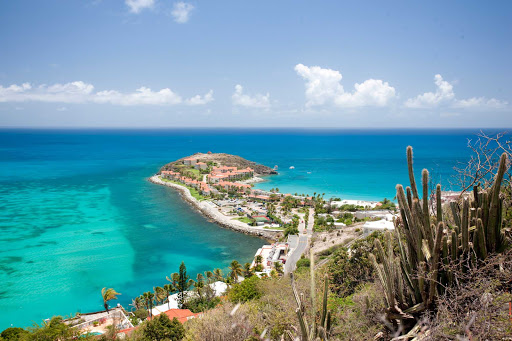 divi-little-bay-St-Maarten - The view of Divi Little Bay Bay and its resort on St. Maarten.