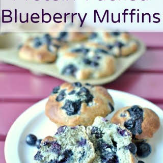 Protein Packed Blueberry Muffins.