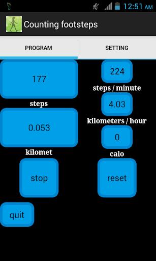 跑步和行走計步器