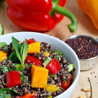 Thai Style Black Quinoa Salad.
