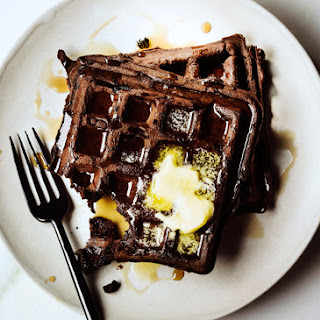 Dark Chocolate Waffles.