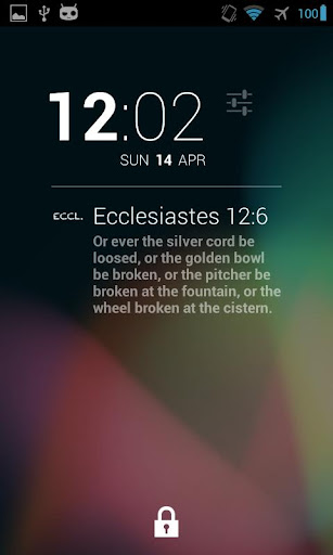 DashClock Bible Ecclesiastes