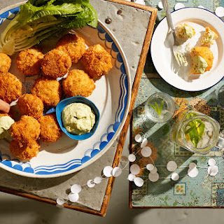 Trout And Fennel Cakes With Green Goddess Dressing