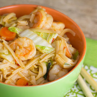 Japanese Noodles with Shrimp
